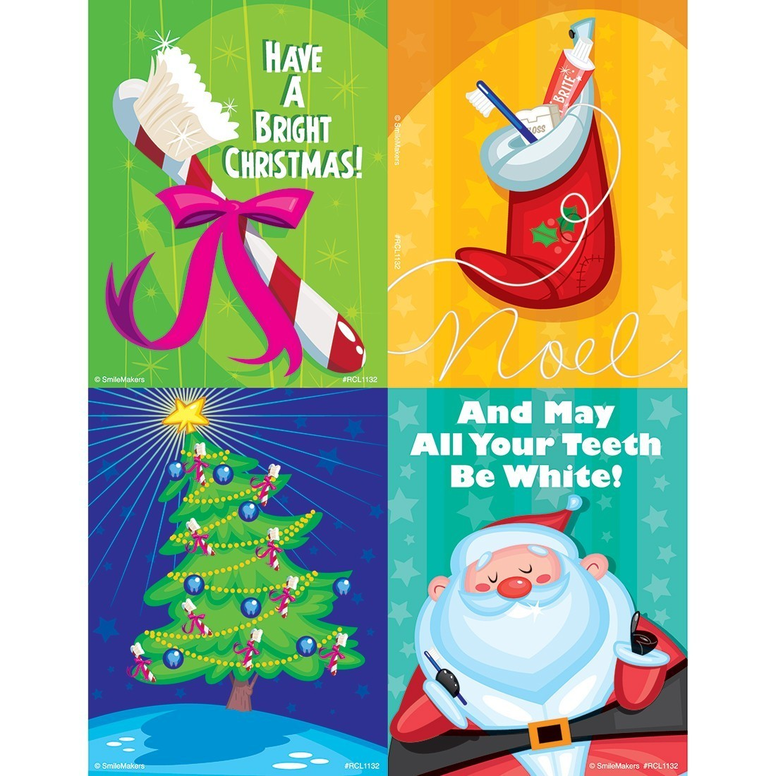 Assorted Christmas Cartoon Laser Cards [image]