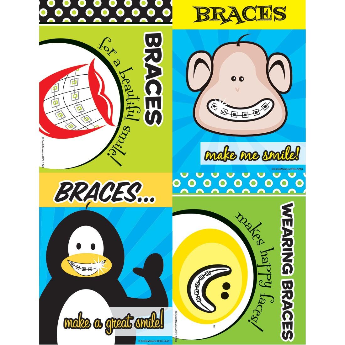 Assorted Braces Laser Cards [image]