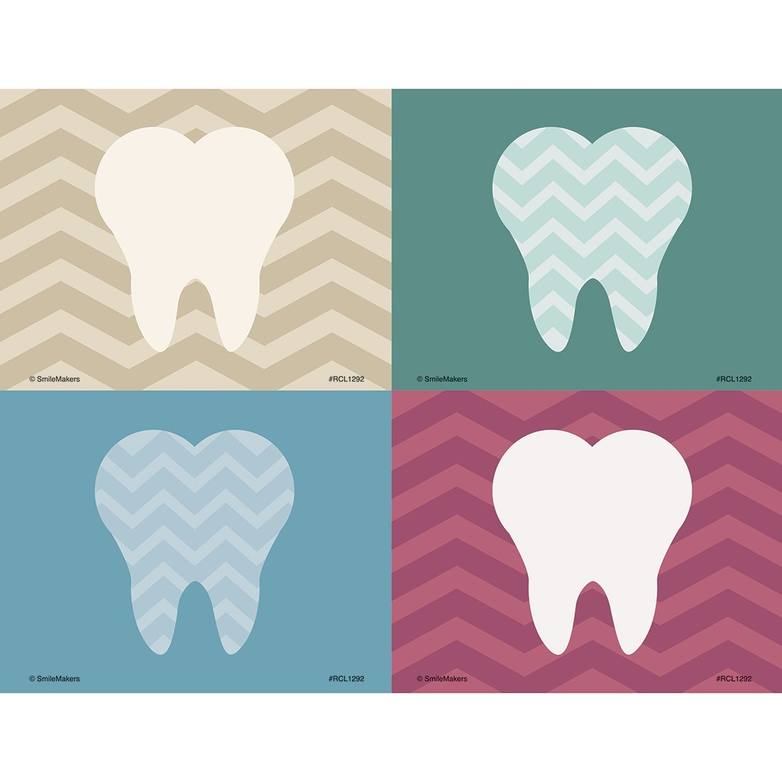 Assorted Chevron Tooth Laser Cards [image]