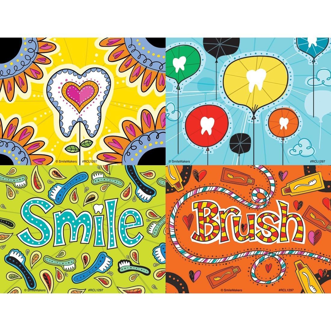 Assorted Dental Doodles Laser Cards [image]