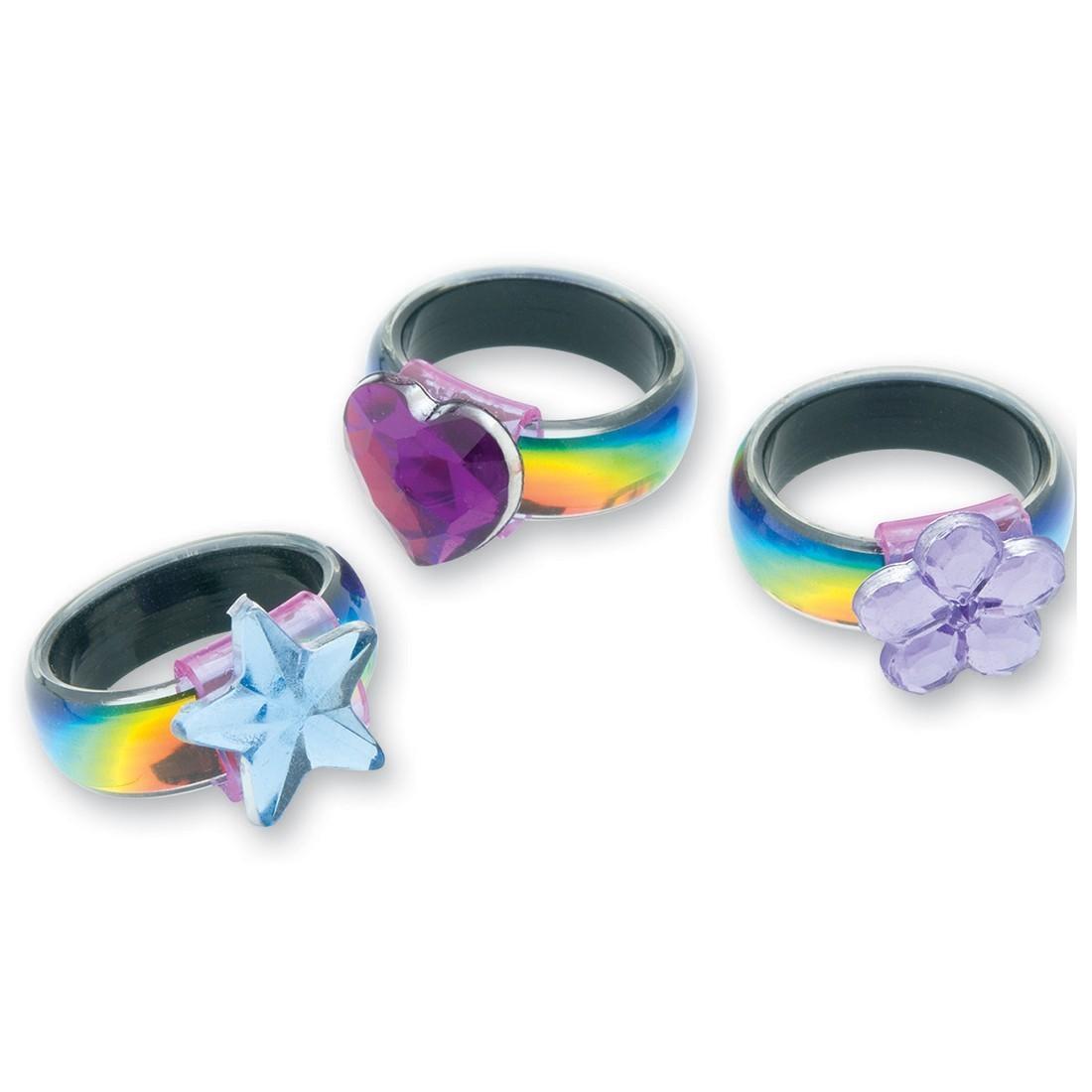 Rainbow Laser Rings [image]