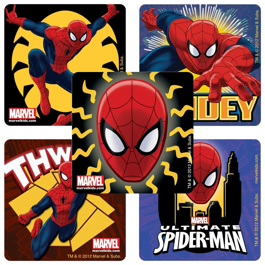 Glow in the Dark Spider-Man™ Stickers         [image]