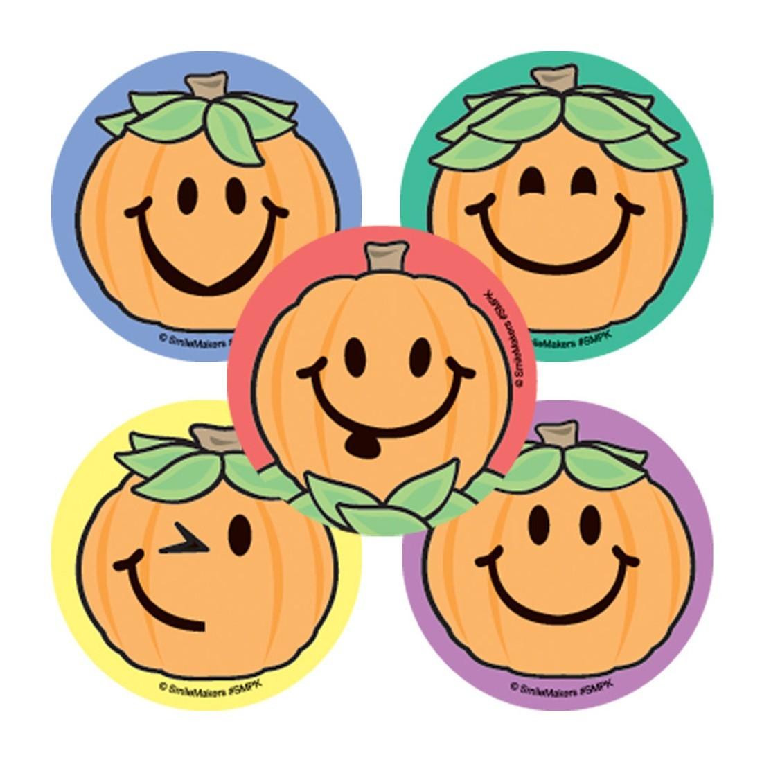 Smiley Guy Jack O Lantern Stickers                 [image]