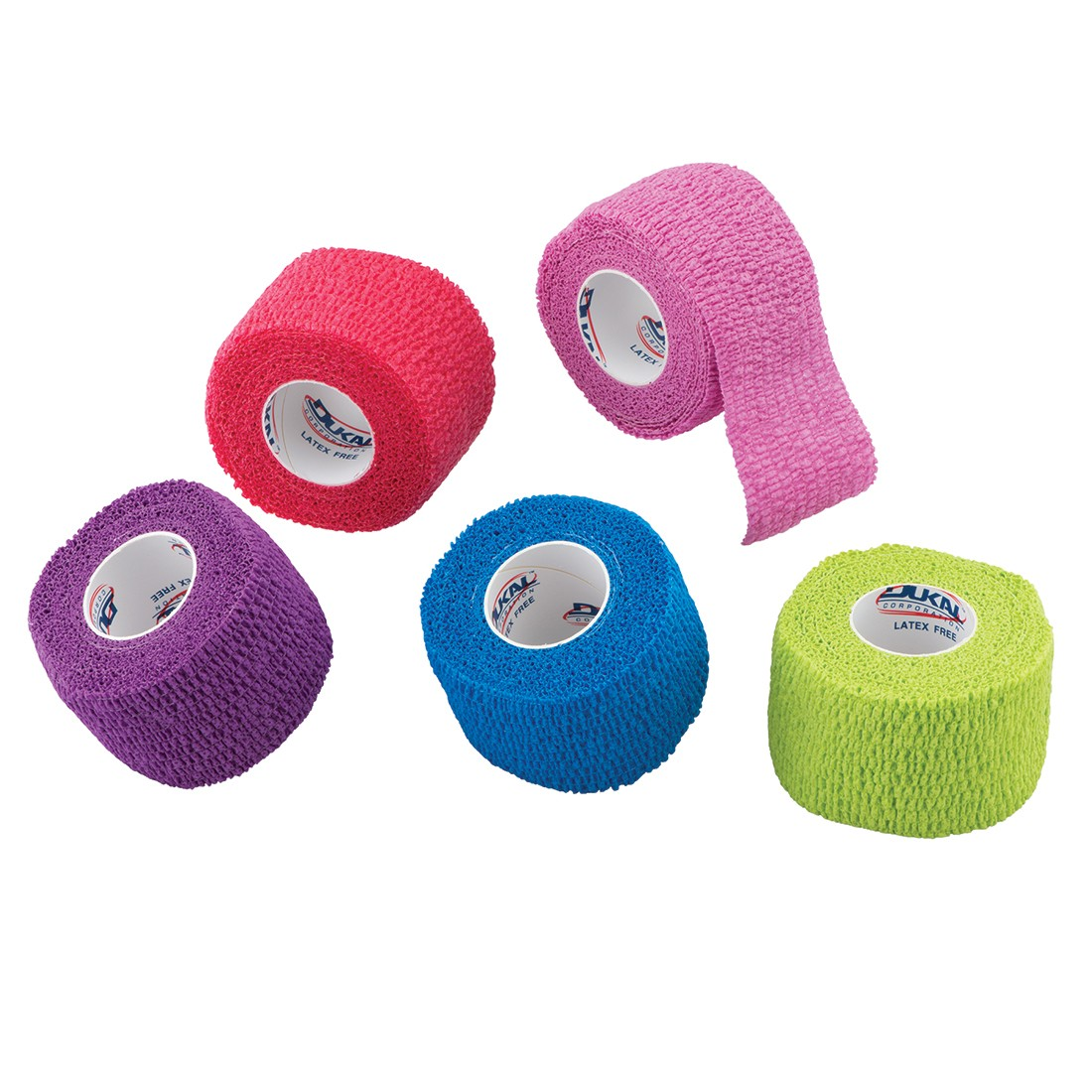 """1 1/2"""" Assorted Color Cohesive Bandage Wrap Rolls [image]"""