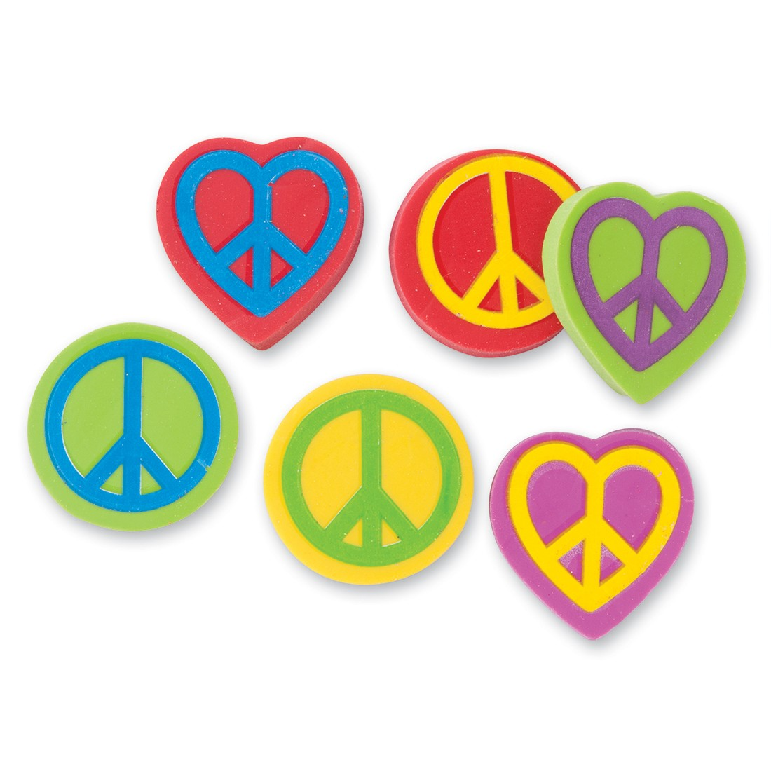 Peace Sign Erasers [image]