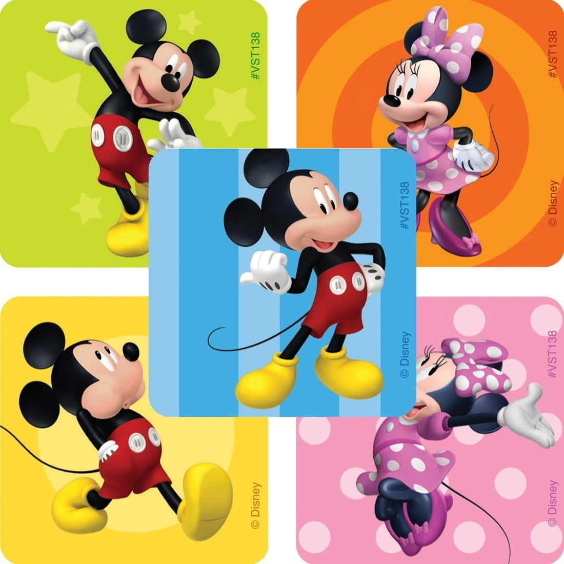 Mickey & Minnie Mouse ValueStickers [image]