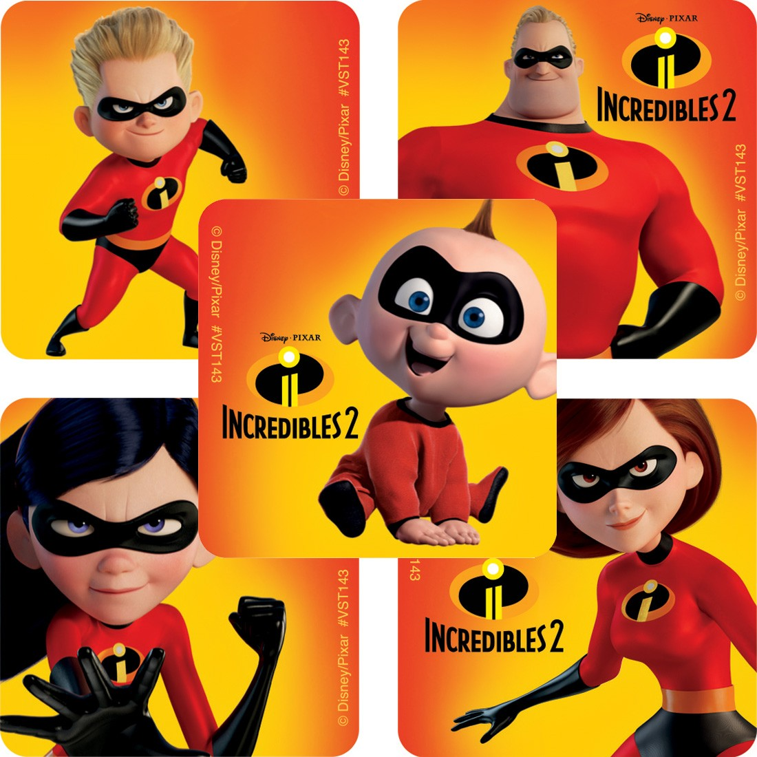 The Incredibles ValueStickers [image]