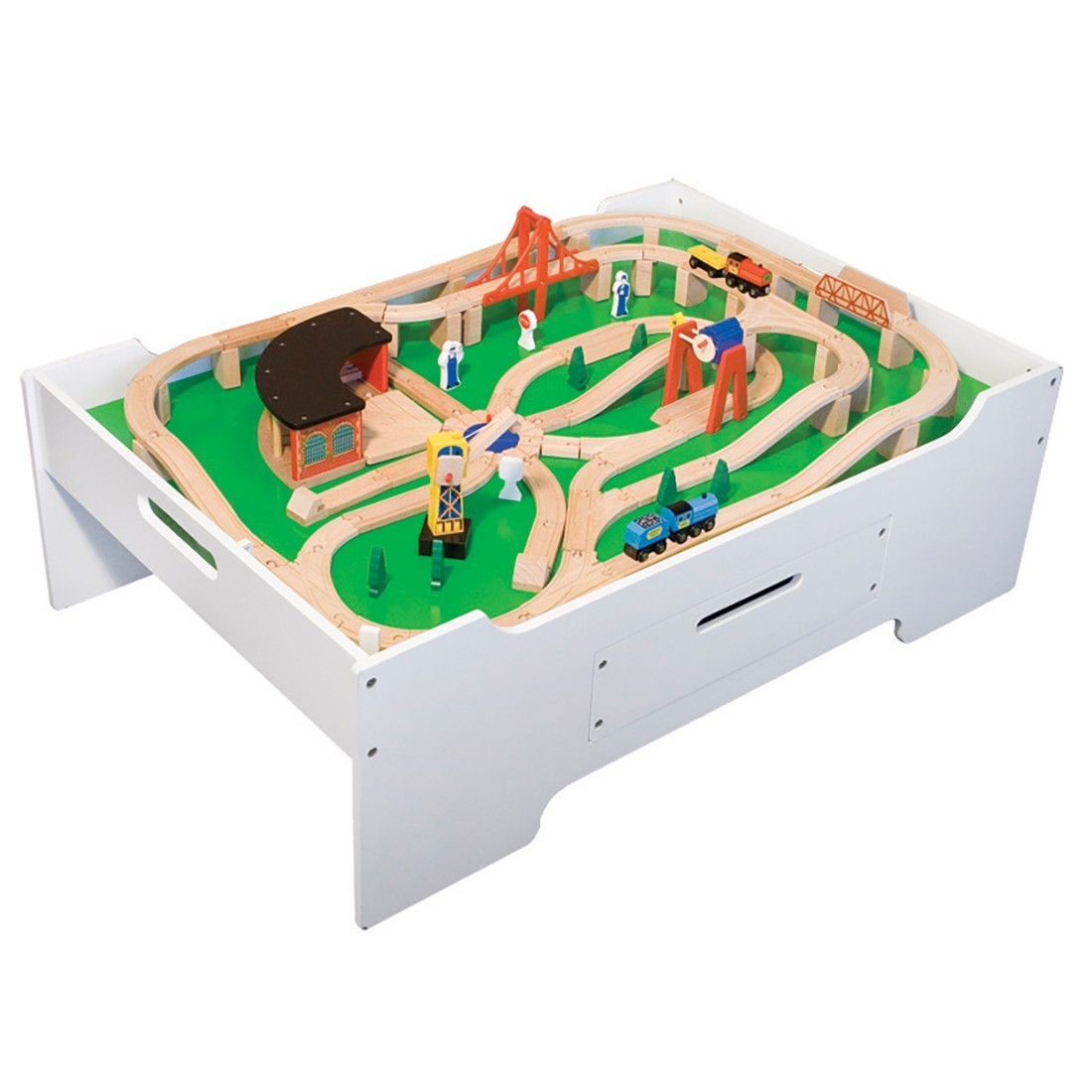 Wooden Train Set  Activity Table Waiting Room Decor From - Train set table