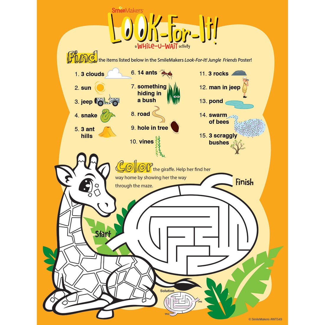 Jungle Friends Look-For-It Activity Sheets [image]