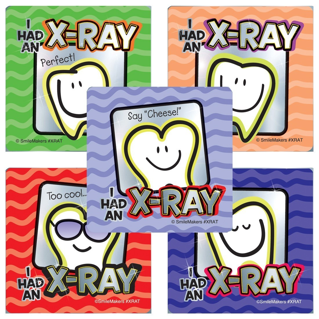 Dental X-ray Foil Stickers                              [image]