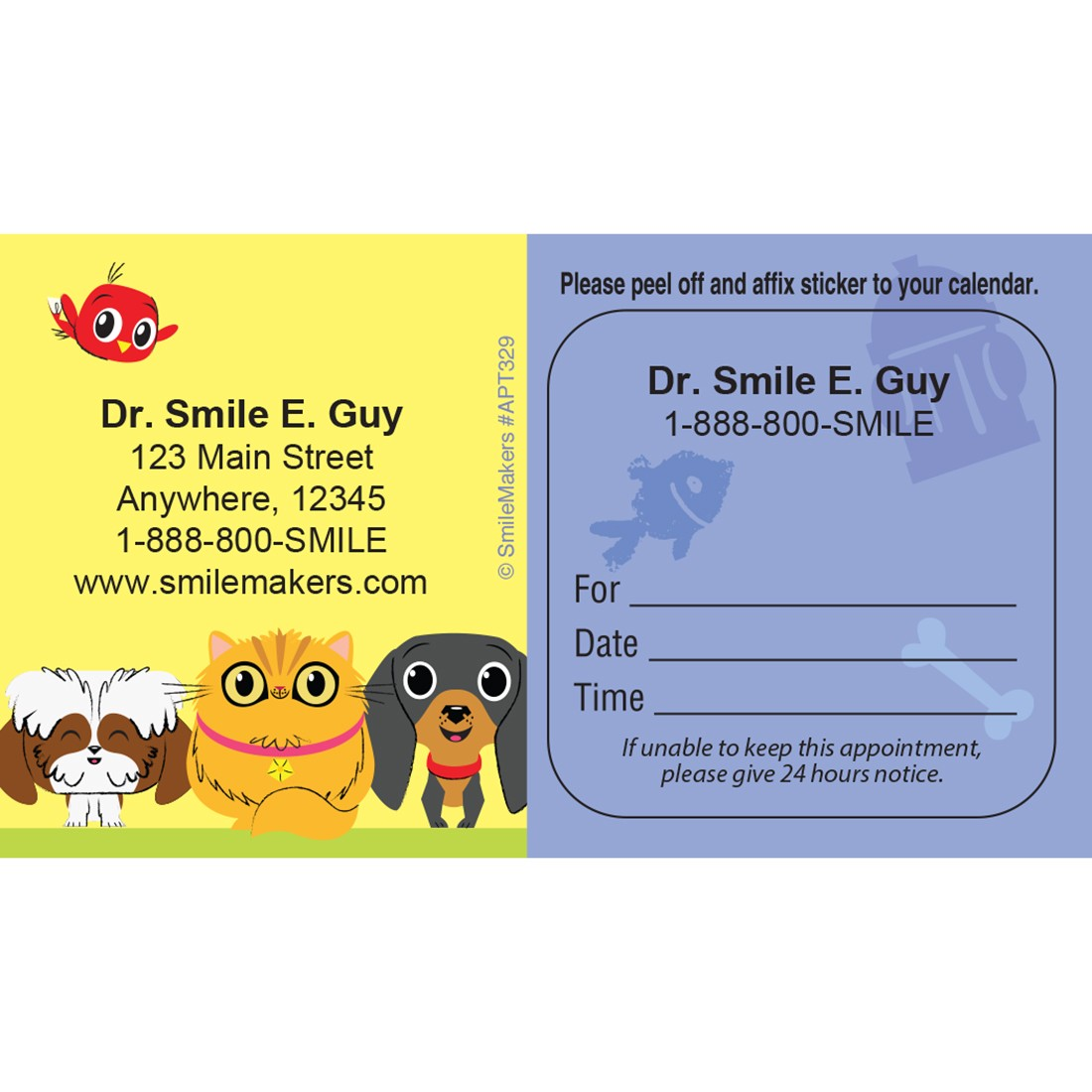 Custom Playful Pets Appointment Card [image]