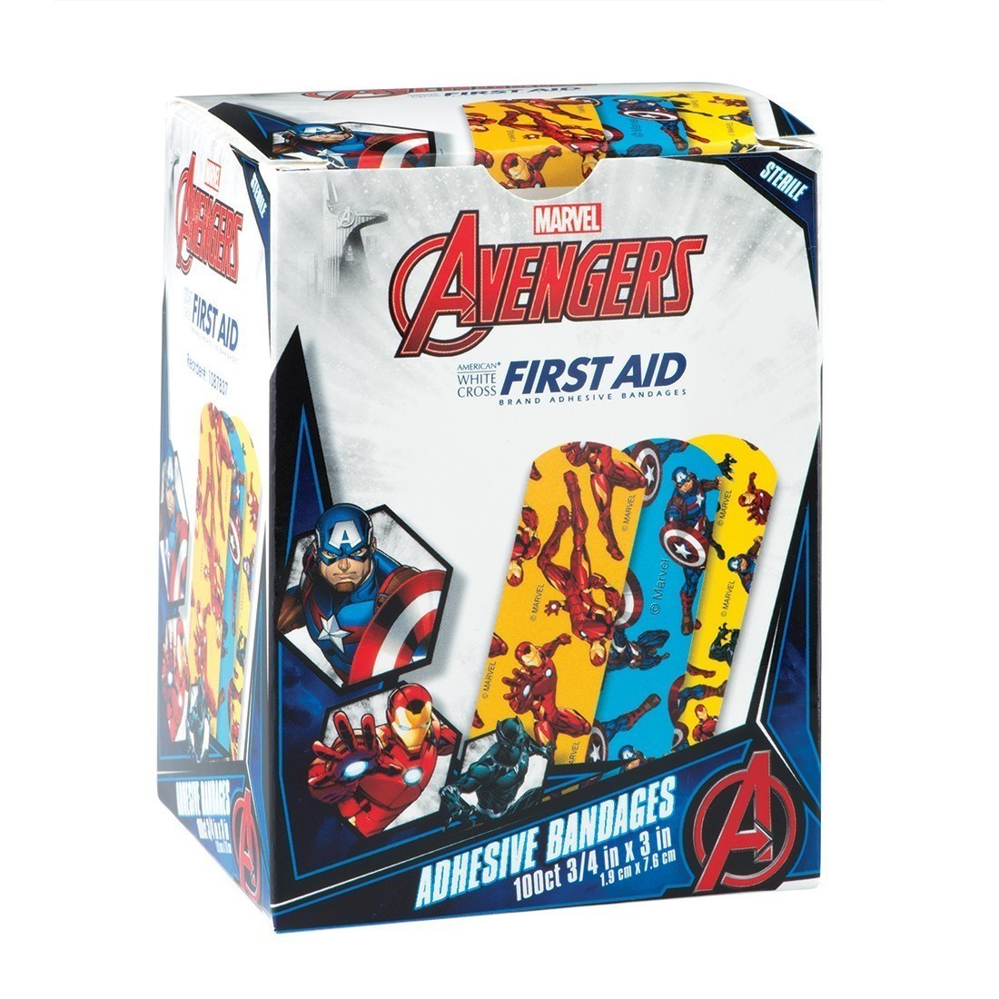 Captain America, Black Panther & Iron Man Bandages [image]