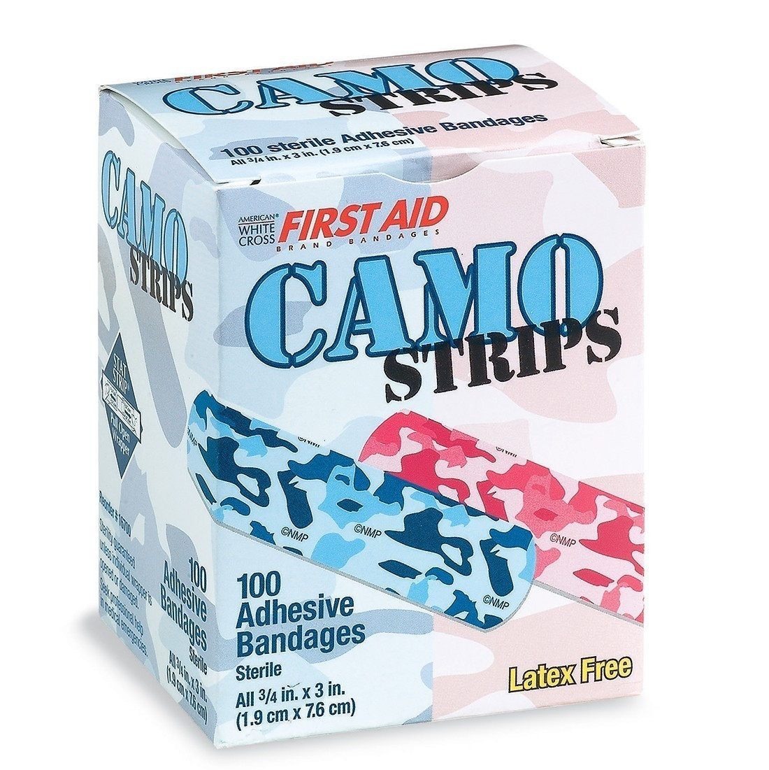 First Aid Pink and Blue Camouflage Bandages [image]
