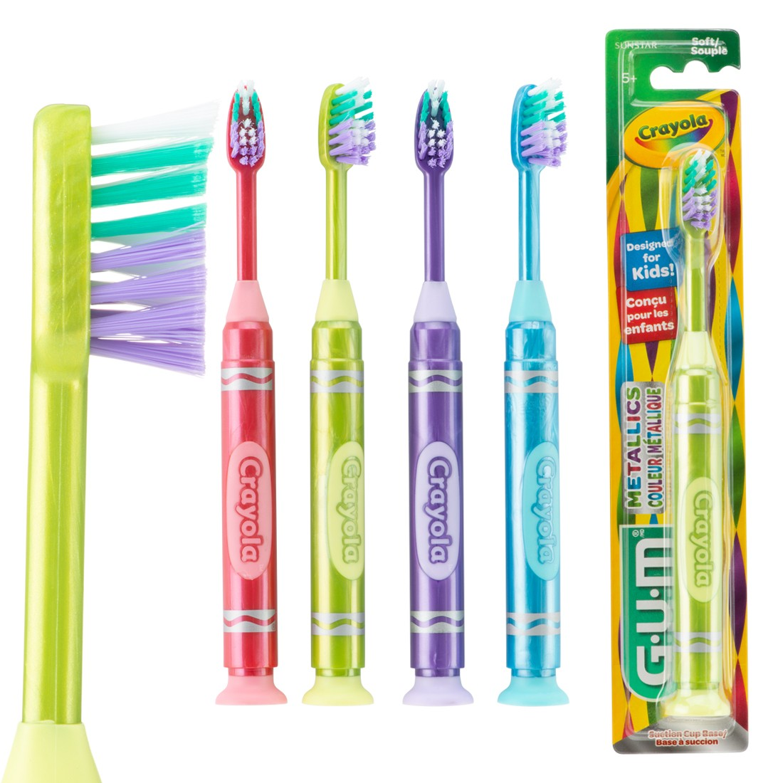 GUM® Crayola™ Metallic Marker Youth Toothbrushes [image]