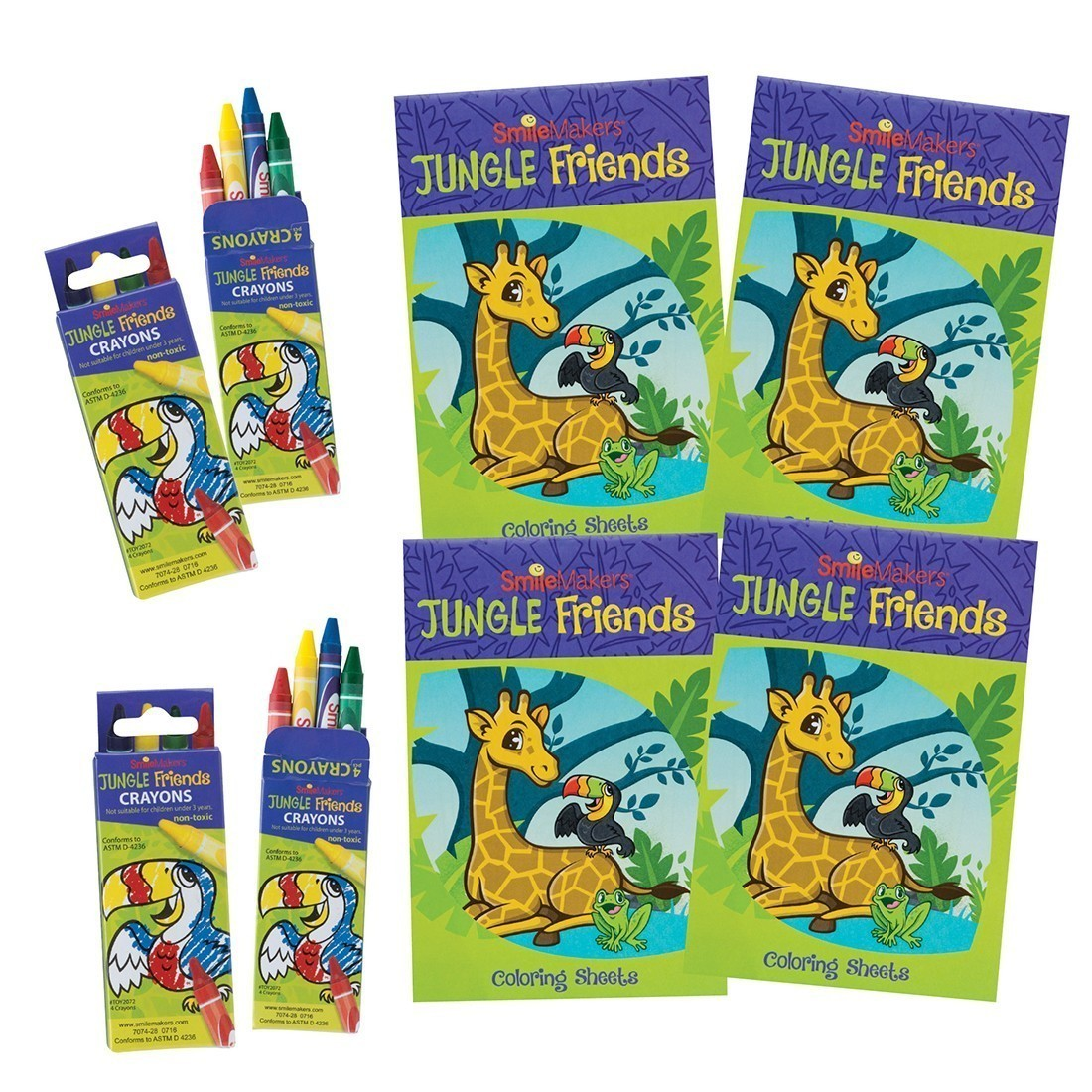 SmileMakers Jungle Friends Coloring Value Pack [image]