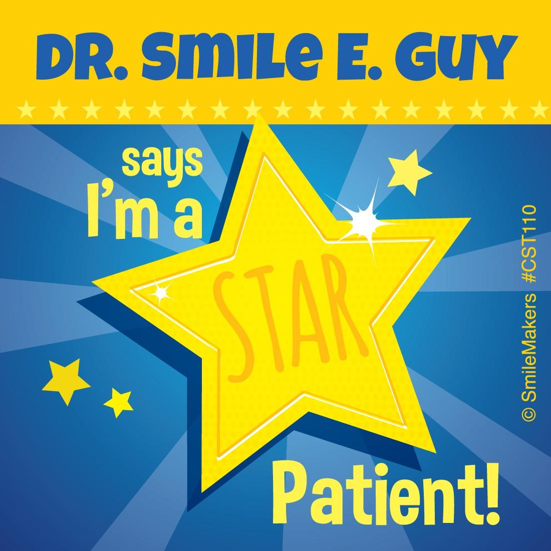 Custom Star Patient Stickers  [image]