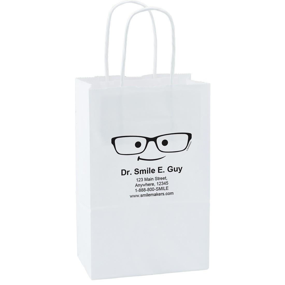 Custom White Paper Bags Small Image Slider 0