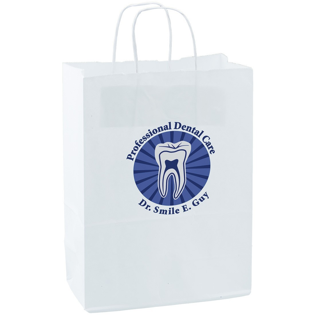 Custom White Paper Bags - Large [image]