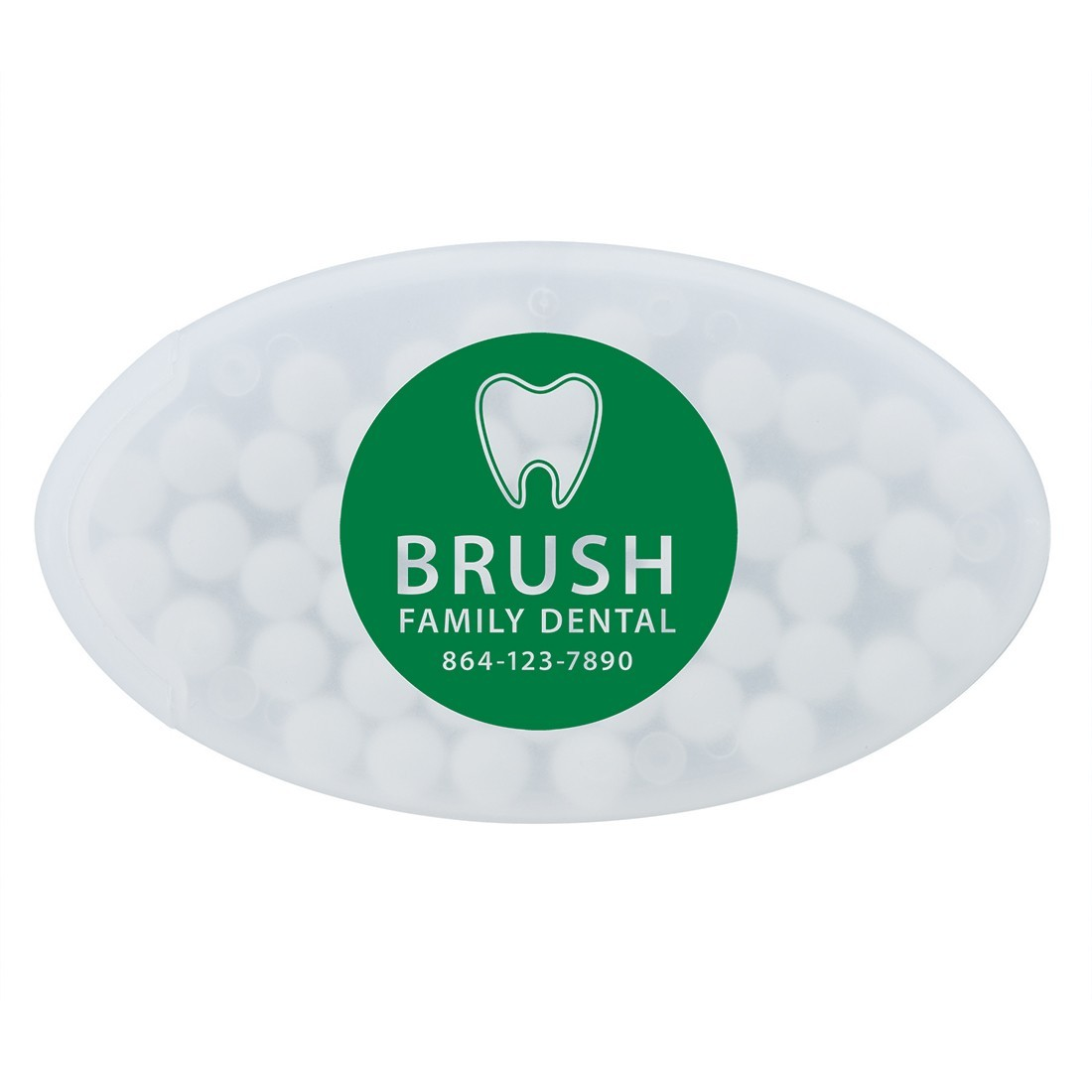 Custom SmileCare Oval Mint Containers [image]