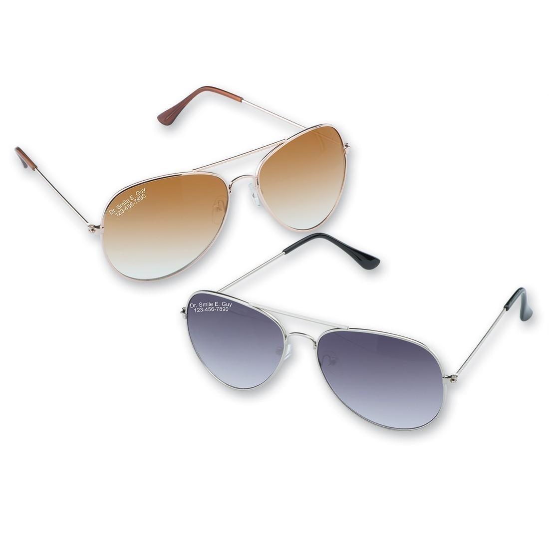 0812885a07 Custom Adult Aviator Sunglasses - Custom Sunglasses from SmileMakers
