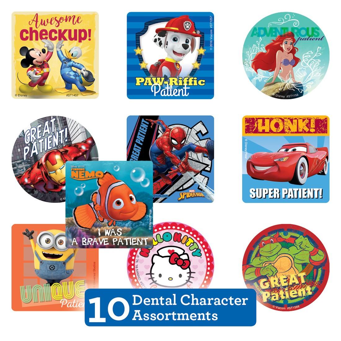 Dental Character Sticker Sampler                   [image]