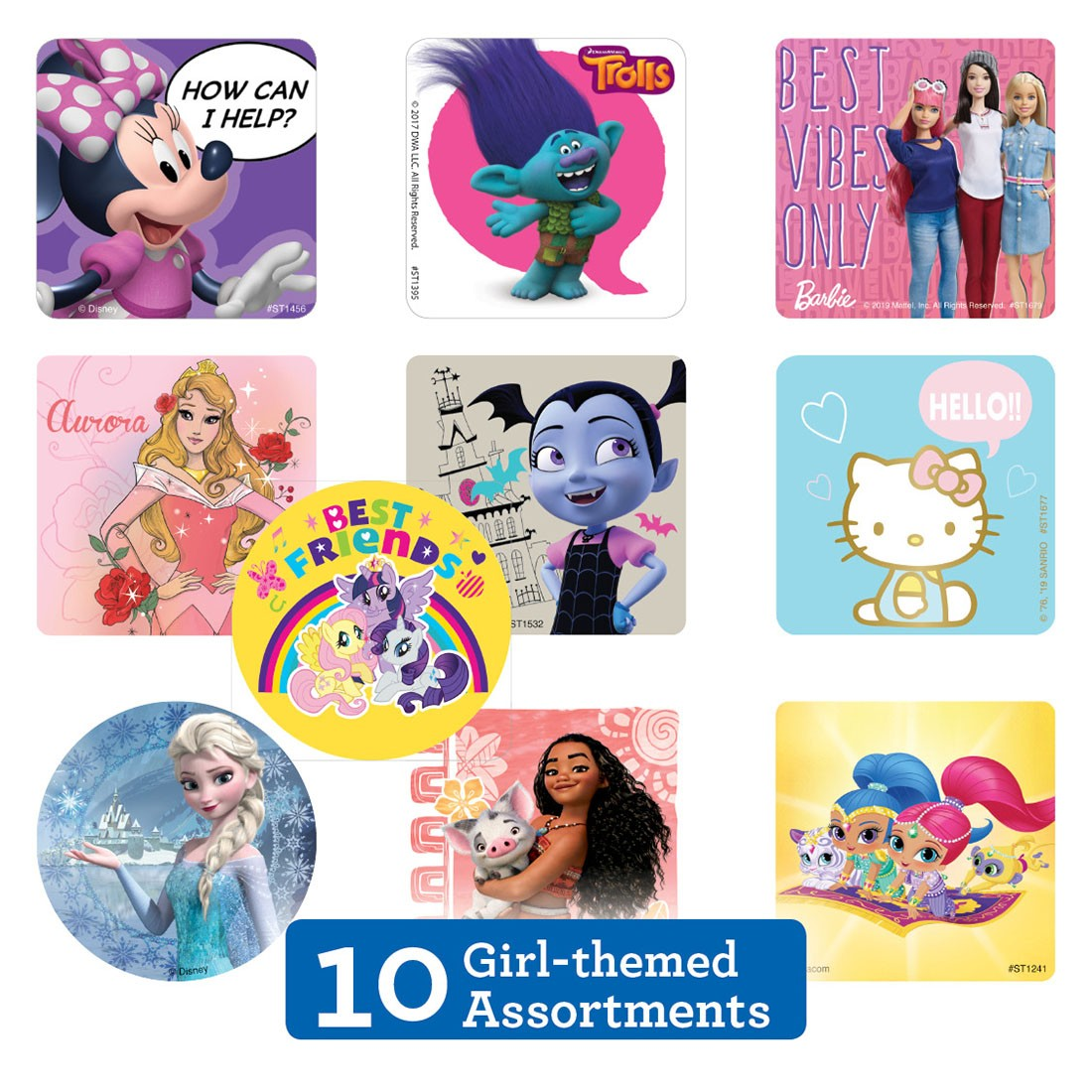 Girl Sticker Sampler                               [image]