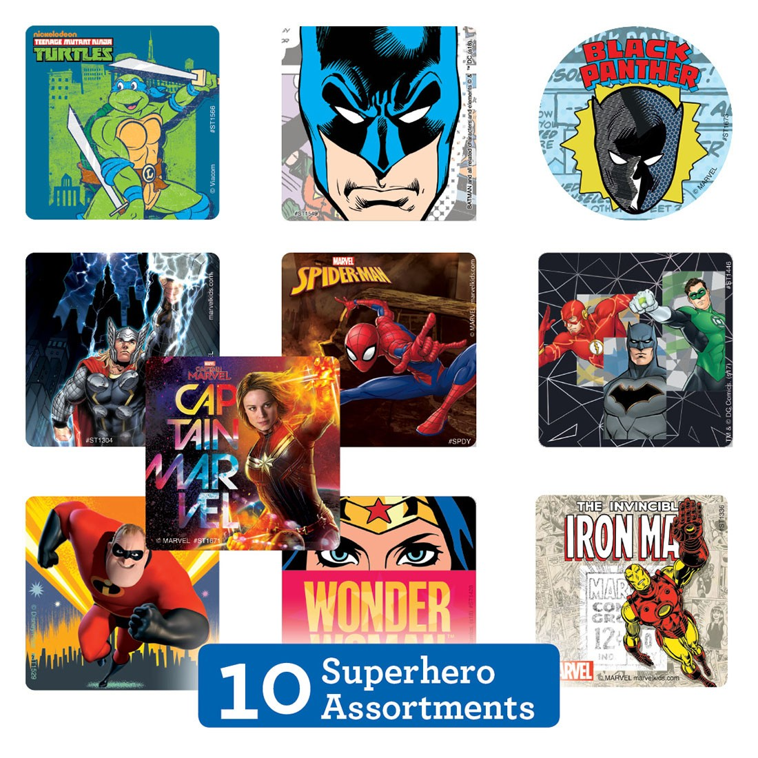 Superhero Sticker Sampler                          [image]