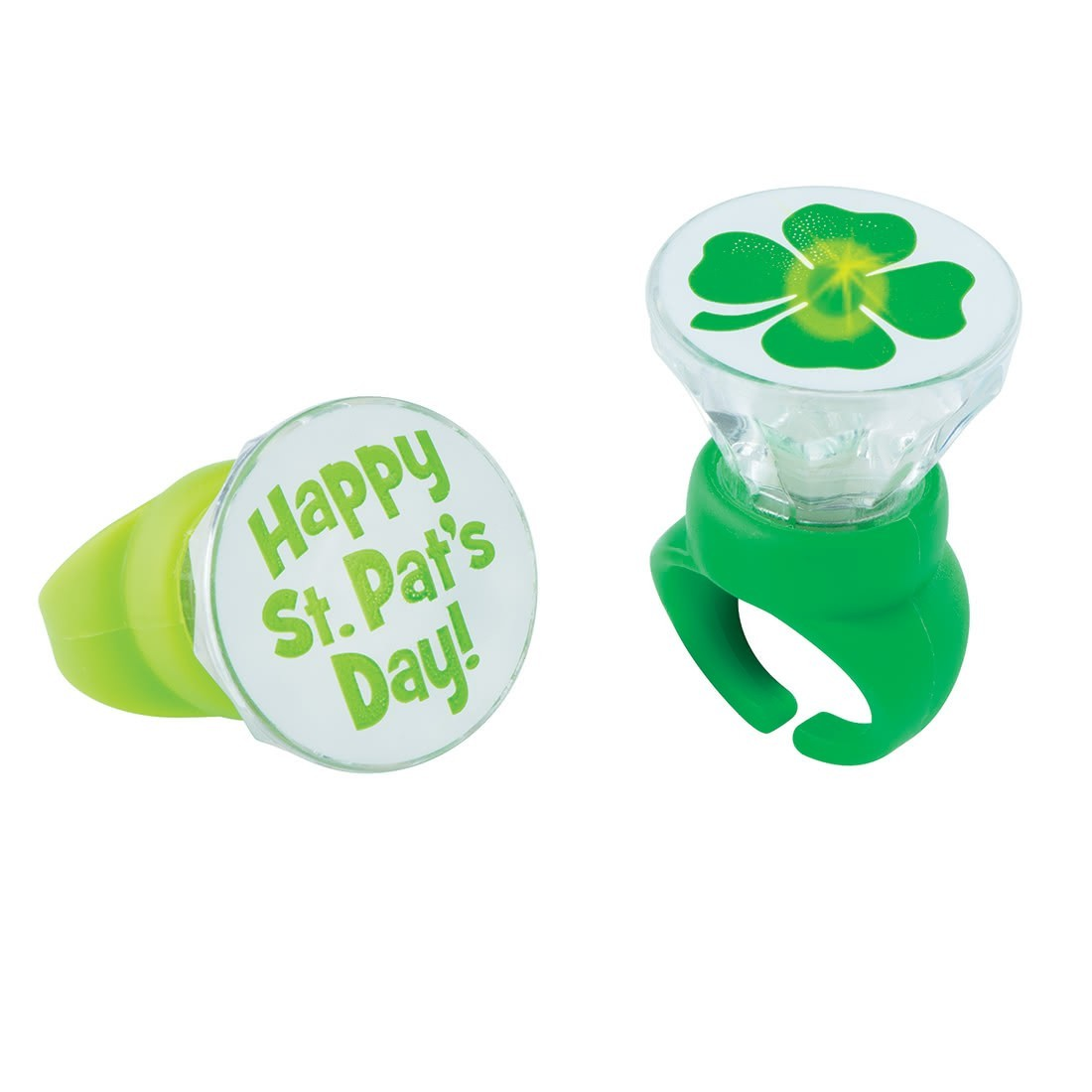 Light Up St Patricks Day Rings  [image]