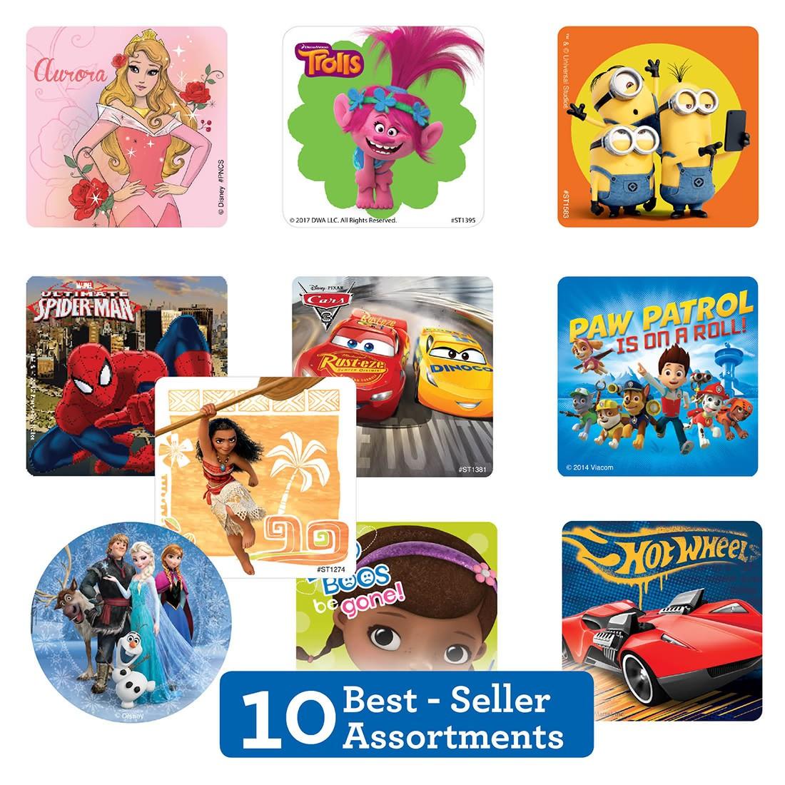 Best Sellers Licensed Sticker Sampler              [image]