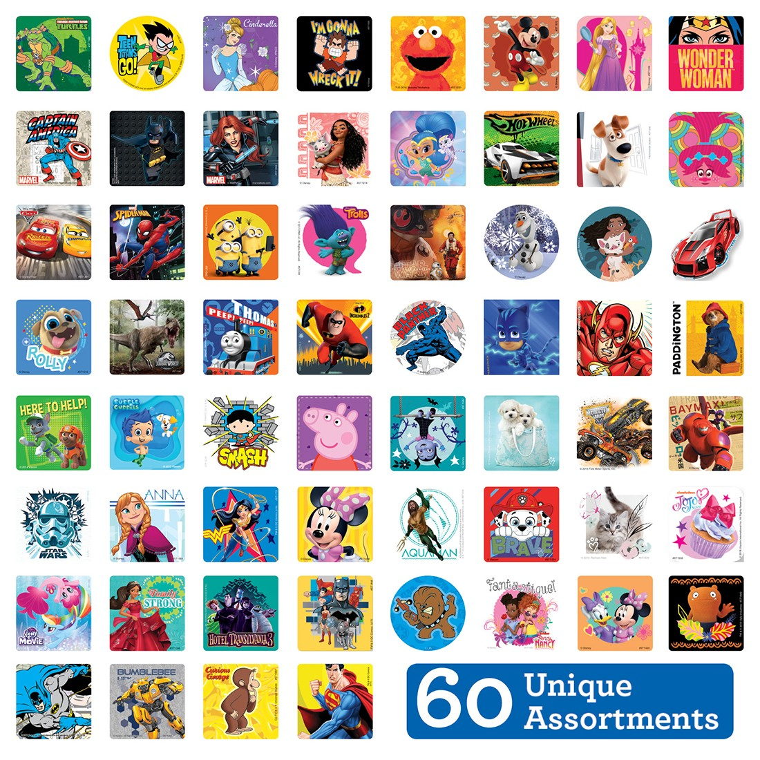 SmileMakers MEGA Character Sticker Sampler         [image]