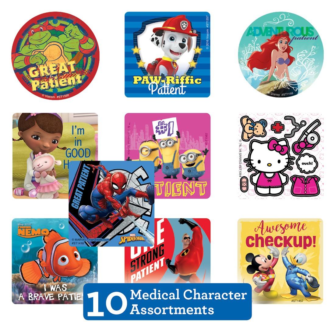 Medical Character Sticker Sampler                  [image]