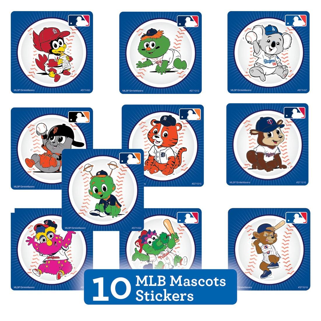 MLB Mascots Sticker Sampler   [image]
