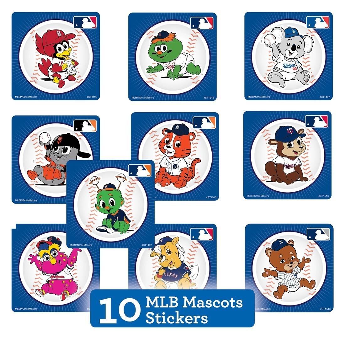 MLB Mascots Sticker Sampler   [image]