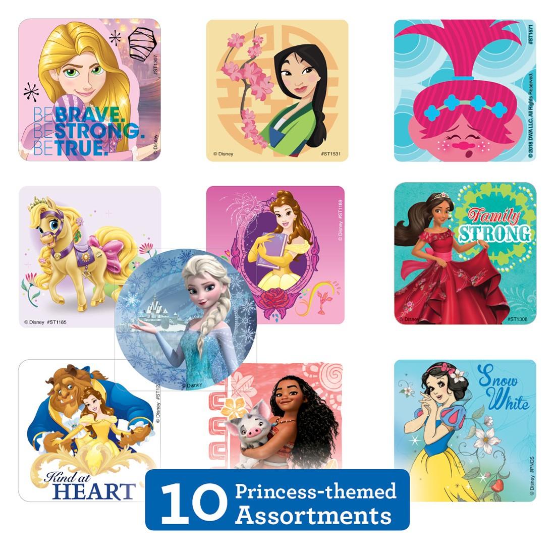 Princess Character Sticker Sampler                 [image]