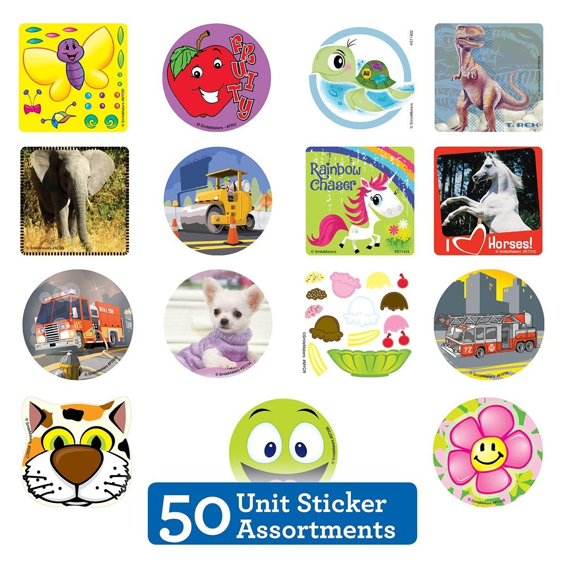 50 Unit Sticker Sampler                            [image]
