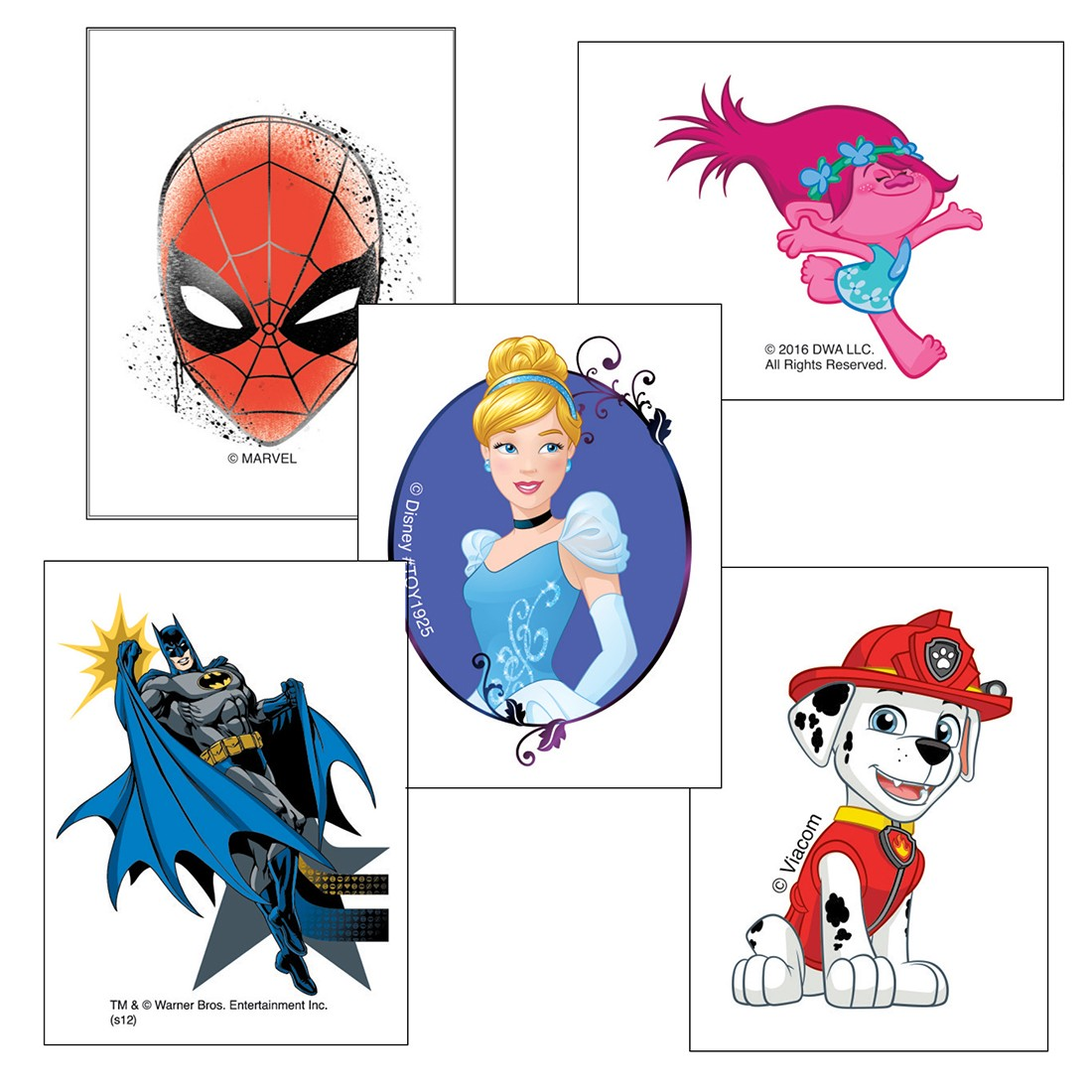 Character Temporary Tattoos Value Pack [image]