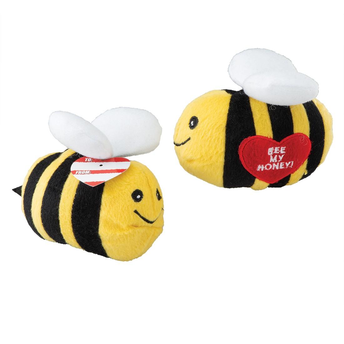 Plush Valentine Honey Bees   [image]