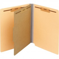"End-Tab Folder With Divider, 2"" Fastener"