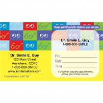 Custom Square Glasses Eyecare Appointment Cards