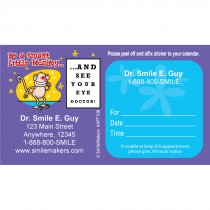 Custom Monkey Eye Chart Sticker Appointment Cards