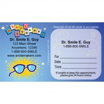 Custom Great Eye Care Glasses Sticker Appointment Cards