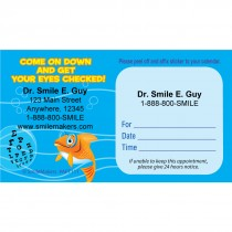 Custom Fish Eye Chart Sticker Appointment Cards