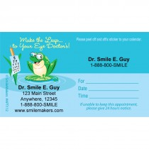Custom Leap to Eye Doctor Sticker Appointment Cards