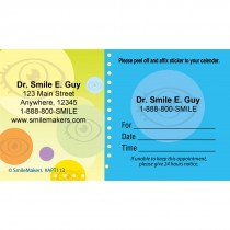 Custom Eye Bubbles Sticker Appointment Cards
