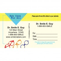 Custom Eye Care For All Sticker Appointment Cards