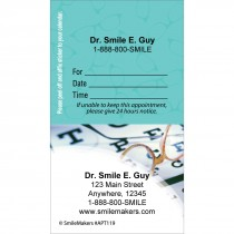 Custom Eye Chart Sticker Appointment Cards