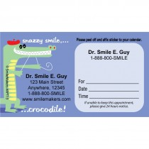 Custom Snazzy Smile Crocodile Appointment Cards