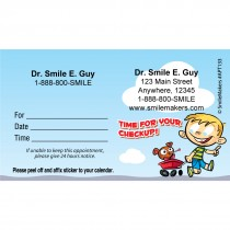 Custom Kid Check Up Appointment Cards