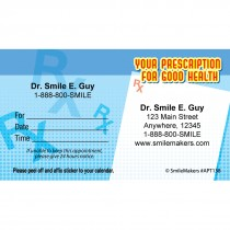 Custom Prescription 4 Health Appointment Cards