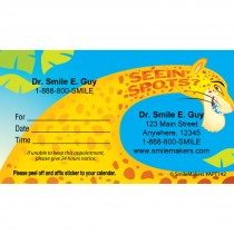 Custom Seeing Spots Appointment Cards